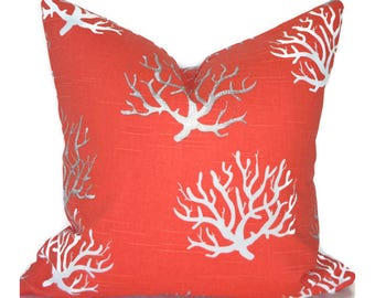 Pillow Covers ANY SIZE Decorative Salmon Pillow Cover Coral Pillow Premier Prints Isadella Salmon
