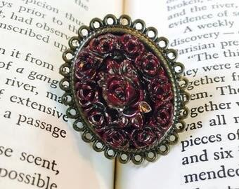 Burgundy Bouquet Ring
