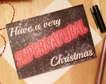 A Very Supernatural Christmas - Supernatural - SPN - Seasons Greetings - Christmas Card