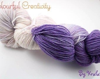 Colourful Soft Sock - Purple Pansies