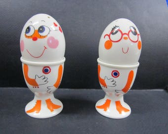 love salt and pepper shakers and egg cups set