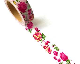 Washi Tape Pink Roses