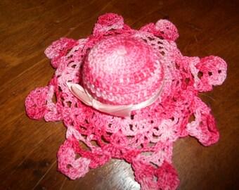 Vintage Crochet Pin Cushion Hat