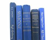 Vintage Books in Blue/Book Decor/Wedding Decor/Home Decor/Instant Library/Book Bundle/Photo Prop/Old Books/Blue Books