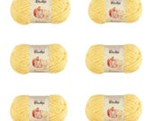 6 Pack of Bernat Baby Blanket Yarn in Baby Yellow 3.5 ounce Skeins