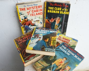 The Hardy Boys Stories Books (6) 1927, 1929, 1942, 1945, 1953