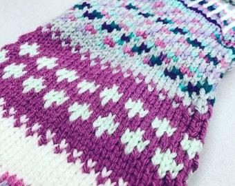 Kneehigh Socks Knit Anelmaiset Colorful Boot Socks