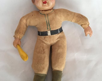 Very Old Celluloid/Cloth Baseball Player - Made in Japan