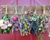 Dried Flower Wreath,Wreath,Primitive Decor,Drying Rack,Gift,Dried Flower Arrangement,Wall Decor,Dried Flowers,Arrangement,Country,Rustic