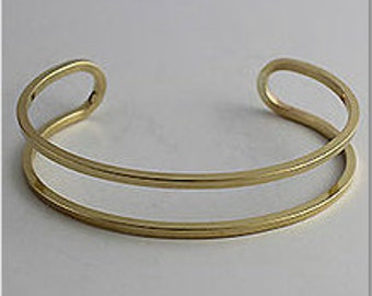 "1 Brass Cuff, Bracelet, Bangle, Cut out Cuff, Thin Cuff, Raw Brass, 1/2"""