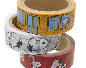 Snoopy Washi Tape Sets of 3  (86452) Price depends on order volume. Buy other items together for BETTER price.