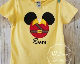 Gaston Beauty & the Beast Inspired Mouse Custom embroidered Disney Inspired Vacation Shirts for the Family! 23a