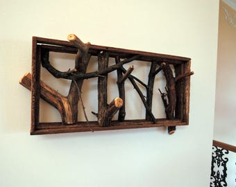 Rustic Style Twig Rack made with Herritage materials