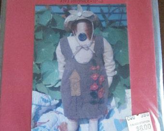 """Hollyhock 20"""" Stuffed Doll Pattern"""