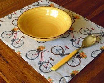 Table placemat for bike lovers
