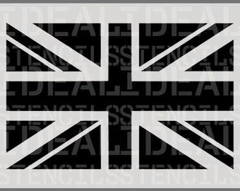 Union Jack Flag wall stencil, British flag decorative wall stencil, union jack furniture stencil, painting stencils