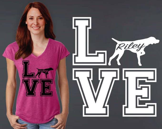 German Shorthaired Pointer | Pointer | Dog Shirt | Dog Lover Gift | Custom T-shirts | Personalized T-shirts | Korena Loves