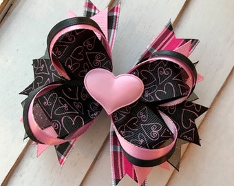 Valentine's Day boutique hairbow barrette