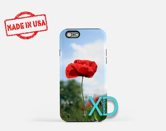 Poppy Flower iPhone Case, Meadow iPhone Case, Meadow iPhone 8 Case, iPhone 6s Case, iPhone 7 Case, Phone Case, iPhone X Case, SE Case New
