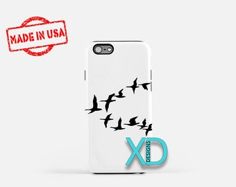 Simple Geese iPhone Case, Bird iPhone Case, Geese iPhone 8 Case, iPhone 6s Case, iPhone 7 Case, Phone Case, iPhone X Case, SE Case