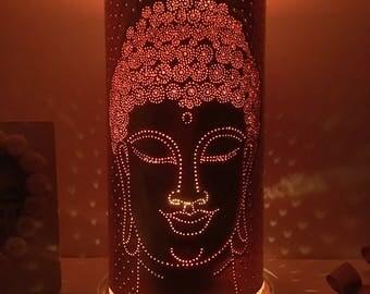Buddha, personalized, anniversary gift, Buddha head, meditation candle, Buddhism, Buddhist, gift for, Gautama, Siddhartha, Shakyamuni