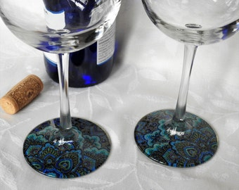 Regal (#2) - Set of 2 Stylized Wineglasses