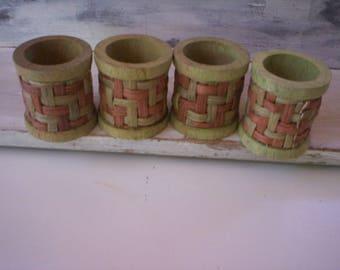4 Wood napkin ring/Round wood napkin rings/Wood Napkin decoration/Holiday decor/Home decor/Table decor/bamboo wood napkin ring/Rustic wood