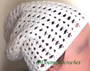 Slouch hat 'slouchy beanie' in wool; Hat with crochet; Mixed model; Winter hat