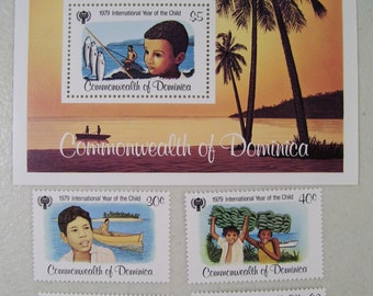 1979 Dominica Stamps, Set of 5, International Year of the child, MNH, Scott 613-617