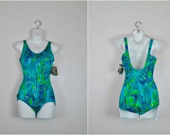 NOS Jantzen Swim Suit, NWT, Jantzen Bathing Suit, Vintage One Piece Swim