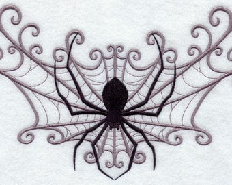 Spider Web Spray Embroidered on Made-to-Order Pillow Cover
