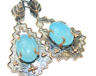 Aquamarine Sterling Silver Earrings - weight 15.50g - dim L-2 1 4, W -1 1 4, t -3 8 inch - code 16-lis-15-36