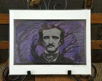 High Quality Archival Print of Edgar Allan Poe