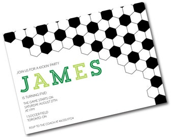 Soccer Printable Party Invitations : Printable Party Designs by The Paper Doll