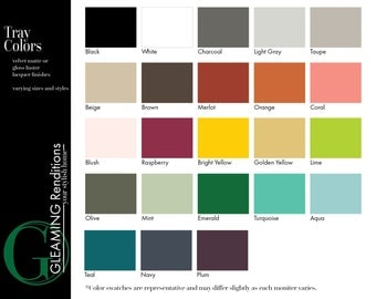 Serving Tray Color Sample by Gleaming Renditions