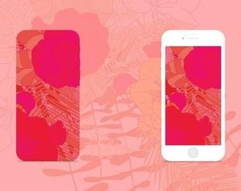Case Face - Hot pink floral