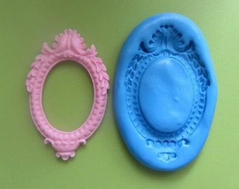 Pink cameo setting silicone mould