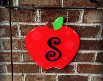 TEACHER Garden Flag | Apple Garden Flag | Apple Orchard | Outdoor Decor