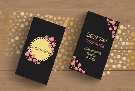younique consultant business card template layered psd no 3 chalkboard floral editable card by. Black Bedroom Furniture Sets. Home Design Ideas