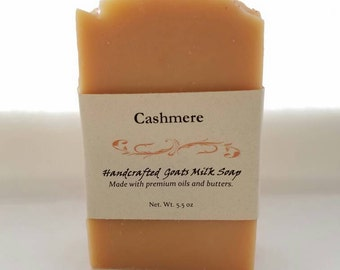 Cashmere Scented Soap Cold Process Olive Rice Coconut Hemp Essential Oils