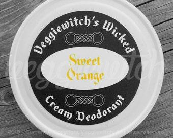 Sweet Orange - Veggiewitch Cream Deodorant - All Natural - Vegan & Organic