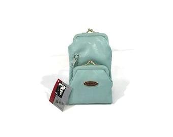 Powder Blue Cigarette Case, Cigarette Case for Women, Cigarette Case Wallet, iPhone Cigarette Case, Vintage Cigarette Case, John Weitz
