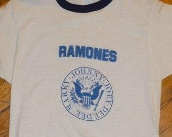 1978 The RAMONES vintage 1970's concert tour rare original punk rock band music t-shirt MINT (S) Small ringer tshirt tee mens Gift