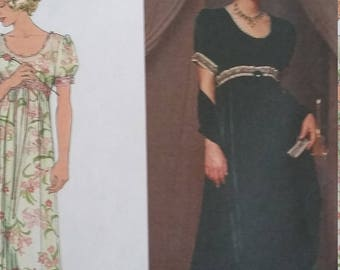 UNCUT and FF Pattern Pieces Vintage Simplicity 8477 Sewing Pattern  Sizes 12, 14, 16 Jane Mohr Designs Dress, Slip, and Wrap