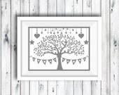 Print OR Paper Cut, Personalised Family Tree, Family Tree Print, Family Keepsake, Anniversary Gift, Birthday Gift, Family Tree, Personalised