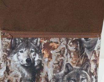 CrossBody Bag | Small Purse | Small Handbag|  iPad Bag | E Reader Bag | Wolf |Wolves