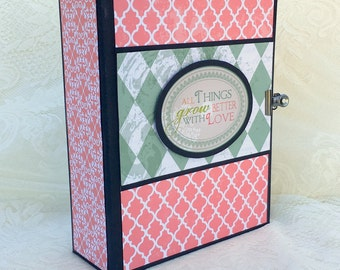 All Things Grow Better with LOVE premade scrapbook photo album