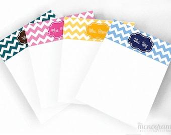 "Personalized Custom Monogram Note Pad - 4x5"""