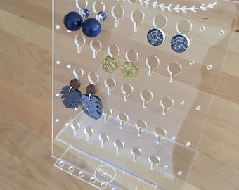 Clear Acrylic Earring Stand