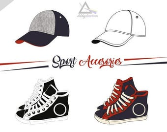 Fashion Accessories clipart, Fashion icons, Baseball cap, Planner accessorie, hat clipart, cap clipart, Commercial use, Fashion ClipArt, PNG
